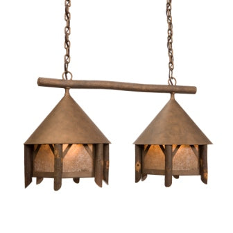 Modern Log Cabin Style Lighting - Steel Partners Lighting 3822-DBL - Anacosti Light - Campromise - Double