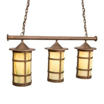 Rustic Style Lighting Fixtures - Steel Partners Lighting 3861-71-TPL - Anacosti Light - Pasadena - San Carlos - Triple
