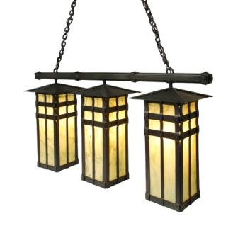 Log Cabin Lighting Fixtures - Steel Partners Lighting 3871-Tpl - Anacosti Light - San Carlos - Triple