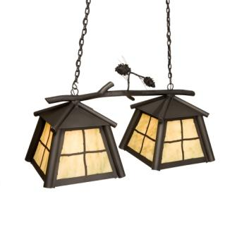 Cabin Lighting Fixtures - Steel Partners Lighting 3873-Dbl - Anacosti Light - Saranac - Double