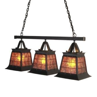 Lodge Style Lighting Fixtures - Steel Partners Lighting 3881-Tpl - Anacosti Lights - Topridge - Triple