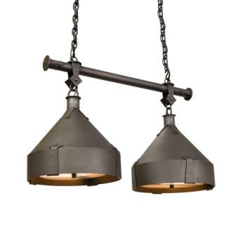 Log Cabin Style Lighting Fixtures - Steel Partners Lighting 3887-DBL - Anacosti Light - Trulli - Double