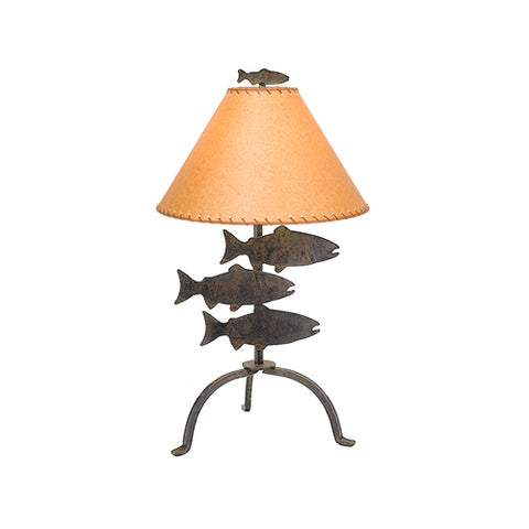 "Modern Rustic Style Lights - Steel Partners Lighting 435 - Rustic Table Lamp 26"" - Fish"