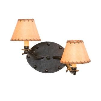 Modern Cabin Lighting Fixtures - Steel Partners Lighting 4574 - Timber Cabin Style Sconce Light - Rivets