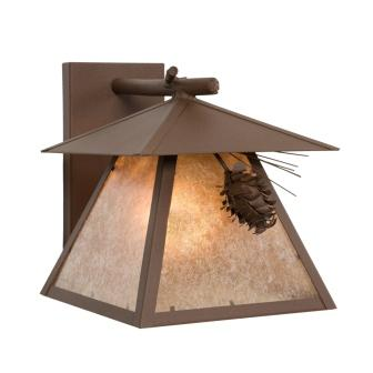 Rustic Cabin Lighting Fixtures - Steel Partners Lighting 4665 - Cascade Log Cabin Style Sconce - Ponderosa Pine