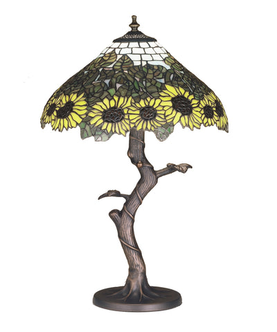 "Lodge Table Lamps Meyda 47632 - 23.5""H Wild Sunflower Table Lamp"