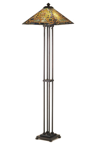 "Farmhouse Style Floor Lamps Meyda 48023 - 63""H Knotwork Mission Floor Lamp"