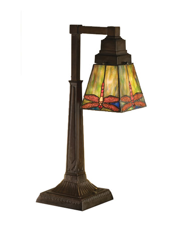 "Lodge Table Lamps Meyda 48212 - 19.5""H Prairie Dragonfly Desk Lamp"