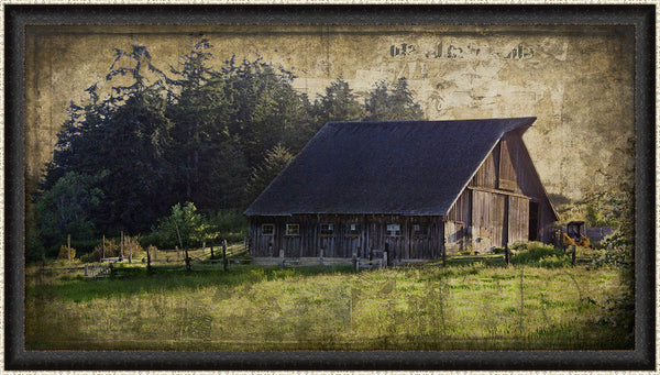 Widby's Barn II Wall Art 18 x 32 inch framed size (approximately)