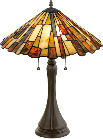 "Log Cabin Style Table Lamps Meyda 52158 - 23""H Delta Jadestone Table Lamp"