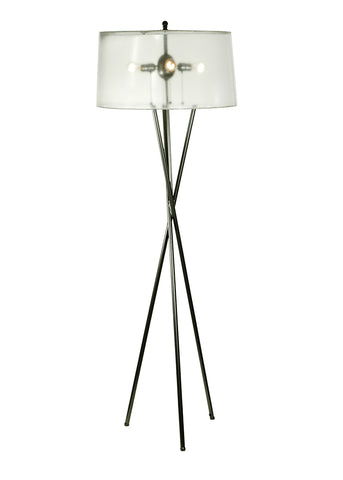 "Country Style Floor Lamps Meyda 52403 - 68""H Gossamer Floor Lamp"