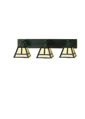 "Lodge Ceiling Lights Meyda 52449 - 24""W ""T"" Mission 3 LT Vanity Light"