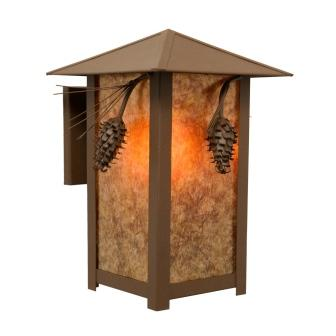 Rustic Lighting Fixtures - Steel Partners Lighting 5565 - Ridge Top Sconce - Ponderosa Pine