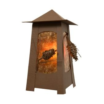 Farmhouse Lighting Fixture - Steel Partners Lighting 5665 - Mesa Indoor / Outdoor Sconce - Ponderosa Pine