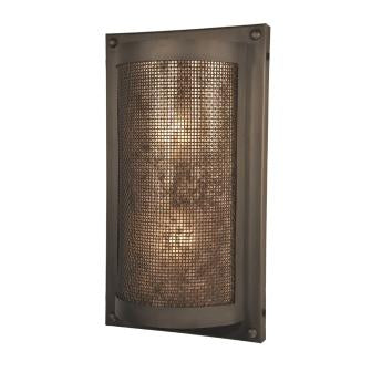 Country Style Lighting Fixture - Steel Partners Lighting 5700-M - Tahoe Sconce - Rivets - Mesh