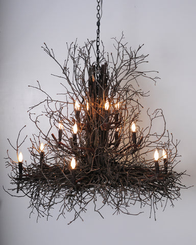 Large Twig Chandelier
