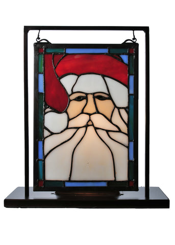 "Rustic Cabin Style Windows Meyda 65250 - 9.5""W X 10.5""H Santa Head Lighted Mini Tabletop Window"