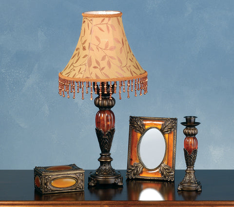 Rustic Country Novelty Lamps And Accessories Meyda 69538 - Amherst 4 Pieces Vanity Set