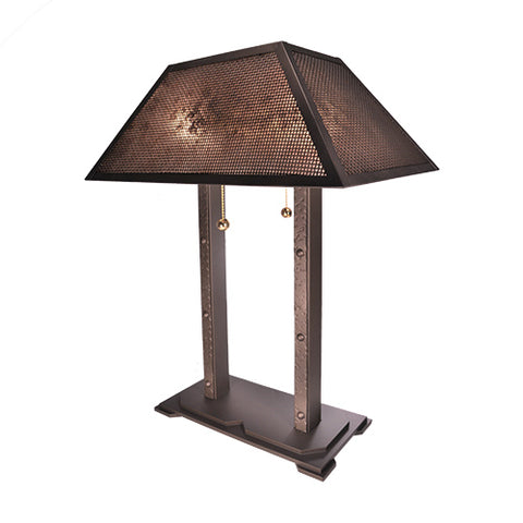 Rustic Lodge Style Lights - Steel Partners Lighting 700 - Table Lamp - Tahoe