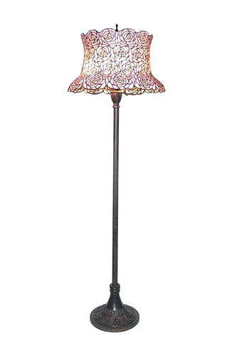 "Rustic Lodge Floor Lamps Meyda 72160 - 64""H Blooming Rose Floor Lamp"