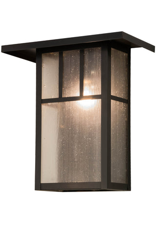 "Modern Lodge Style Outdoor Lighting Meyda 72327 - 15""W Hyde Park Double Bar Mission Wall Sconce"