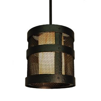 Modern Lodge Lighting Fixture - Steel Partners Lighting 7370-P-Open-Tall - Farmhouse Pendant Lighting - Portland Open - Tall