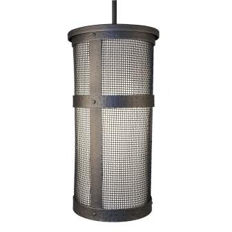 Rustic Farmhouse Lighting Fixture - Steel Partners Lighting 7370-P-Tall-Lid-M - Farmhouse Pendant Lighting - Open - Portland - Tall With Lid w/ Mesh