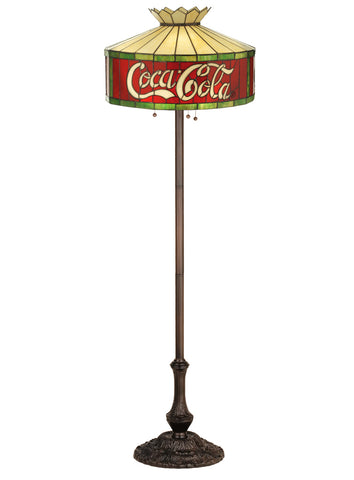 "Lodge Style Floor Lamps Meyda 74068 - 64""H Coca-Cola Floor Lamp"