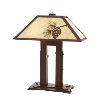 Rustic Log Cabin Style Lights - Steel Partners Lighting 750 - Double Desk Lamp - Mission