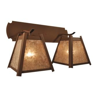 Modern Rustic Style Lighting Fixture - Steel Partners Lighting 7601 - Double Sconce - Crestone