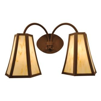 Modern Farmhouse Style Lighting Fixture - Steel Partners Lighting 7602 - Double Sconce - Blanca