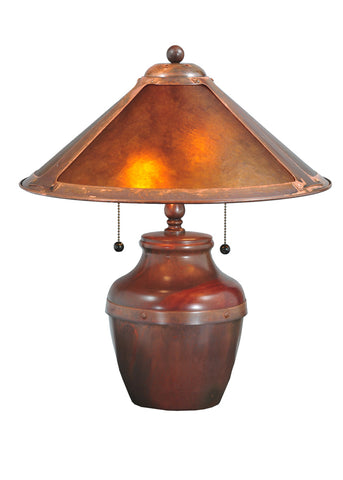 "Rustic Log Cabin Table Lamps Meyda 77774 - 19""H Van Erp Table Lamp"
