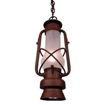 Rustic Cabin Style Lighting Fixture - Steel Partners Lighting 7997-P - Pendant - Decatur With Down Light