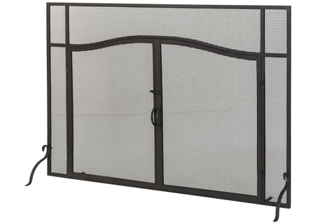 "Modern Lodge Style Fireplace Screens Meyda 81232 - 62""W X 42""H Prime Fireplace Screen"