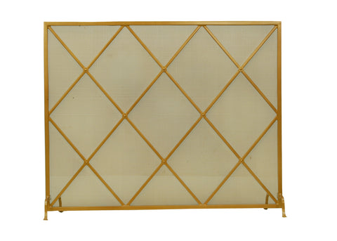 "Modern Cabin Style Fireplace Screens Meyda 81242 - 45.25""W X 37""H Diamonds Fireplace Screen"