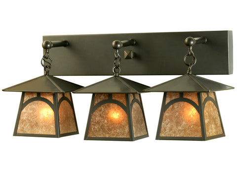 "Rustic Log Cabin Wall Sconce Lighting Meyda 81404 - 26""W Stillwater Hill Top Vanity Light"