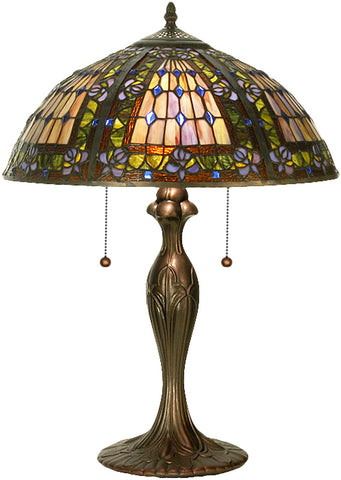 "Modern Lodge Style Table Lamps Meyda 81447 - 22.5""H Fleur-de-lis Table Lamp"