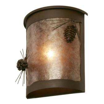 Modern Farmhouse Style Light Fixture - Steel Partners Lighting 9265 - Willapa Sconce - Ponderosa Pine