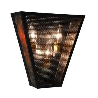 Country Light Fixtures - Steel Partners Lighting 9460-M - Lodge Style Lighting Sconce - Vegas - Plain - Mesh