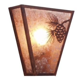 Lodge Light Fixtures - Steel Partners Lighting 9463 - Lodge Style Lighting Sconce - Vegas - Pinecone