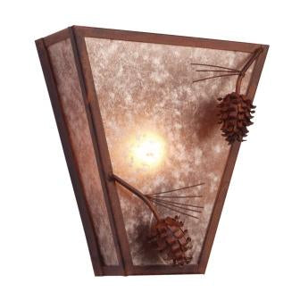 Log Cabin Light Fixtures - Steel Partners Lighting 9465 - Lodge Style Lighting Sconce - Vegas - Ponderosa Pine