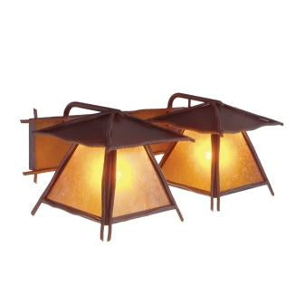 Modern Country Light Fixtures - Steel Partners Lighting 9517 - Rustic Vanity Lights - Twin Prairie - Bundle Of Sticks