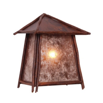Modern Log Cabin Light Fixtures - Steel Partners Lighting 9717 - Rustic Cabin Sconce - Tri Roof - Bundle Of Sticks