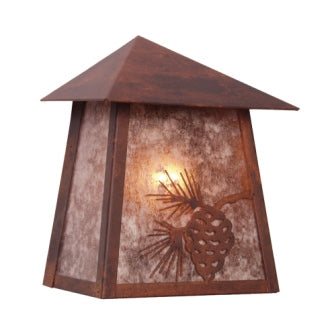Modern Farmhouse Style Light Fixtures - Steel Partners Lighting 9750 - Rustic Cabin Sconce - Tri Roof - Mission