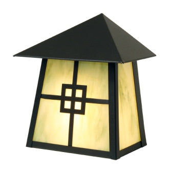 Modern Lodge Style Light Fixtures - Steel Partners Lighting 9764 - Rustic Cabin Sconce - Tri Roof - Prairie