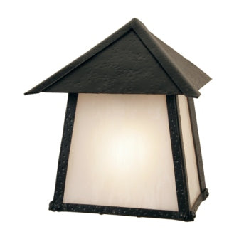 Rustic Country Style Light Fixtures - Steel Partners Lighting 9771 - Rustic Cabin Sconce - Tri Roof - San Carlos