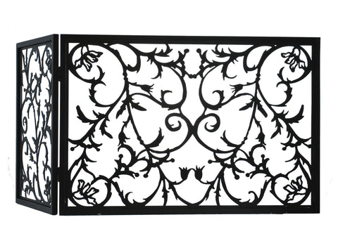 "Modern Rustic Fireplace Screens Meyda 97928 - 34""W X 23""H Vine Fireplace Screen"