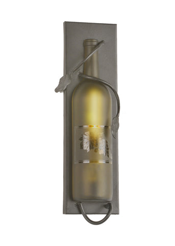"Modern Log Cabin Wall Sconce Lighting Meyda 99373 - 4""W Tuscan Vineyard Wine Bottle Wall Sconce"
