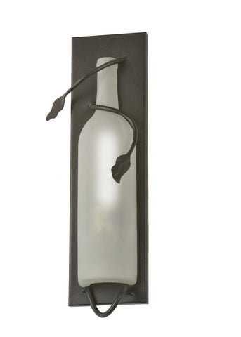 "Modern Rustic Style Wall Sconce Lighting Meyda 99374 - 4""W Tuscan Vineyard Wine Bottle Wall Sconce"