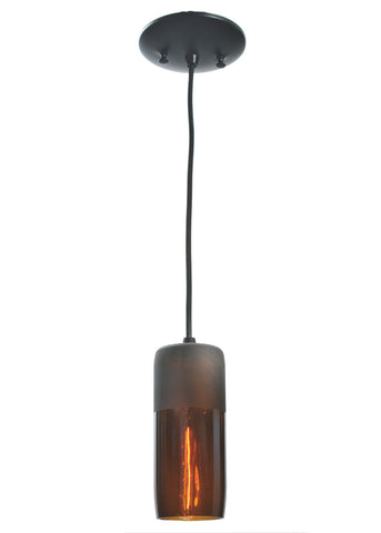 "Lodge Style Ceiling Lights Meyda 99430 - 3""W Venice Amber Wine Bottle Mini Pendant Light"